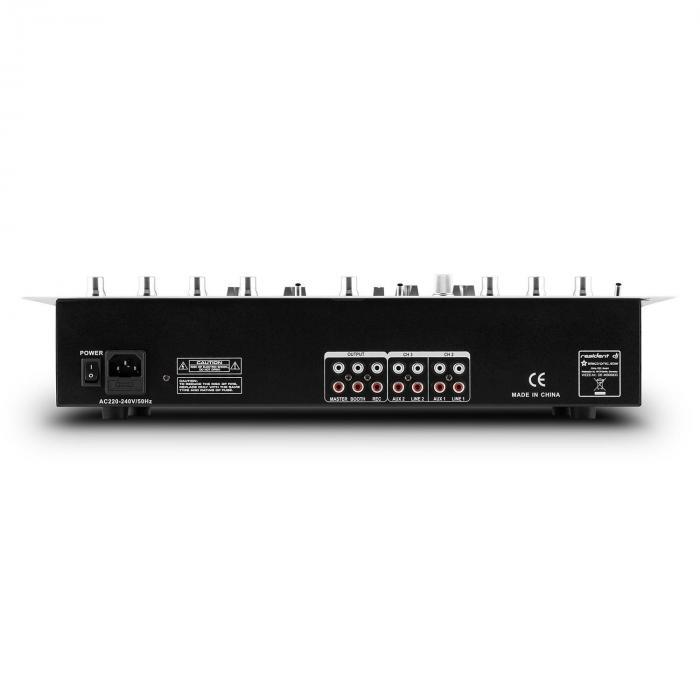 DJ405USB 4-Channel DJ Mixer 2 x Bluetooth USB SD AUX Recording Function