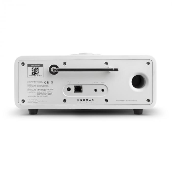 One – 2.1 RadioInternet design Bluetooth Spotify Connect DAB/DAB+ -blanc