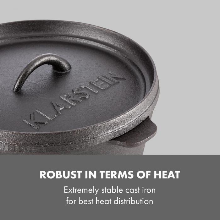 Hotrod 85 Dutch Oven BBQ-Pot 9 qt / 8,5 Liter Gietijzer zwart