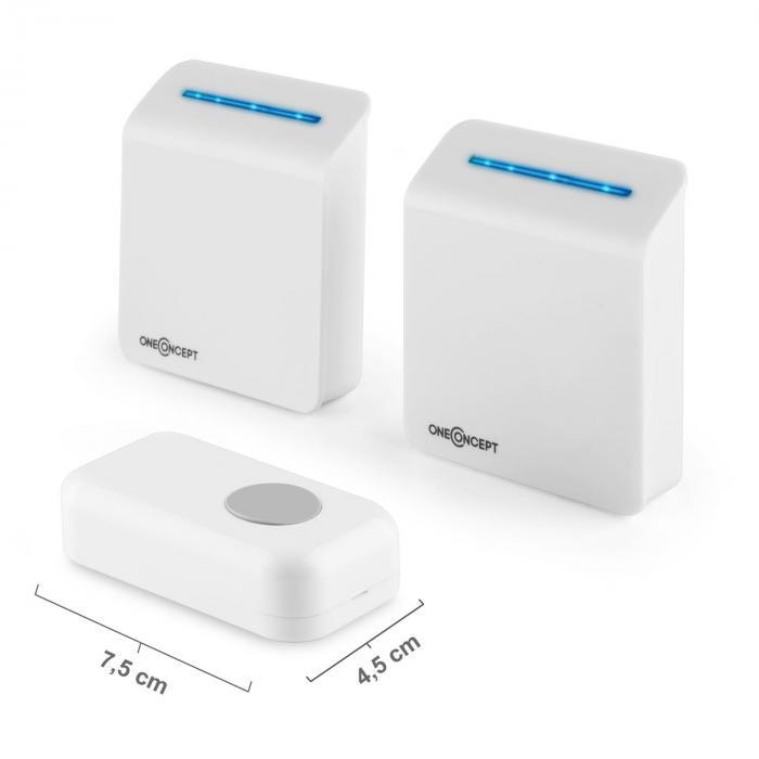 Portaton 330 Funk-Türklingel 3-teilig Batterieempfänger weiß