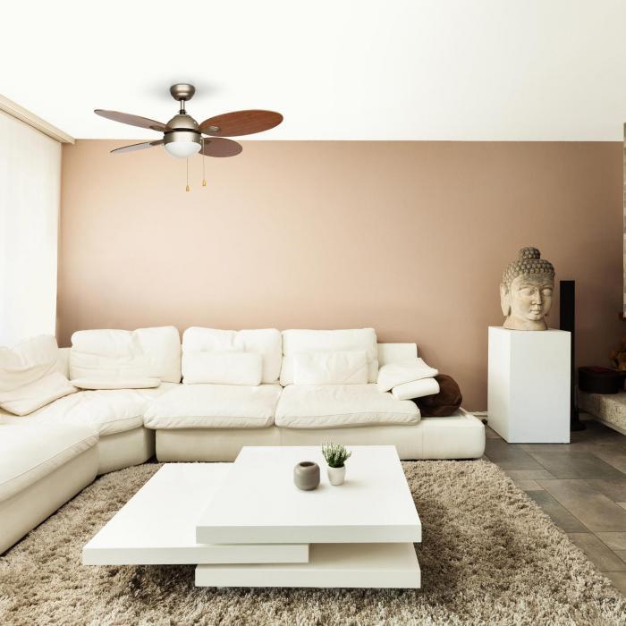 valderama deckenventilator 42 60w deckenlampe 2x43w kirschbaum kirschbaum online kaufen. Black Bedroom Furniture Sets. Home Design Ideas