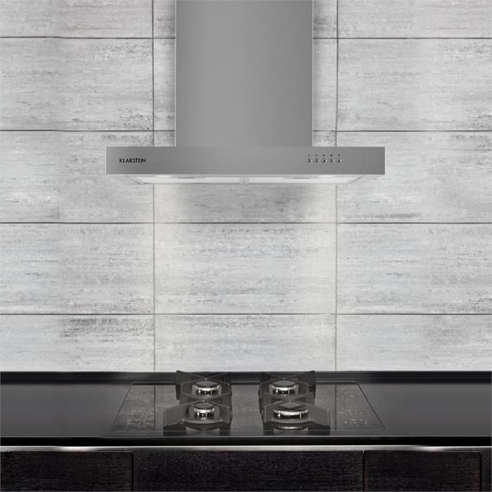 Zarah liesituuletin ruostumatonta terästä 60 cm seinäasennettava 620 m³/h LED