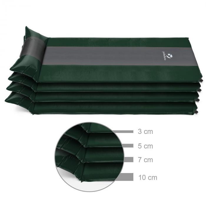 Goodsleep 3 Materassino Ad Aria 3cm Autogonfiabile Verde/Grigio