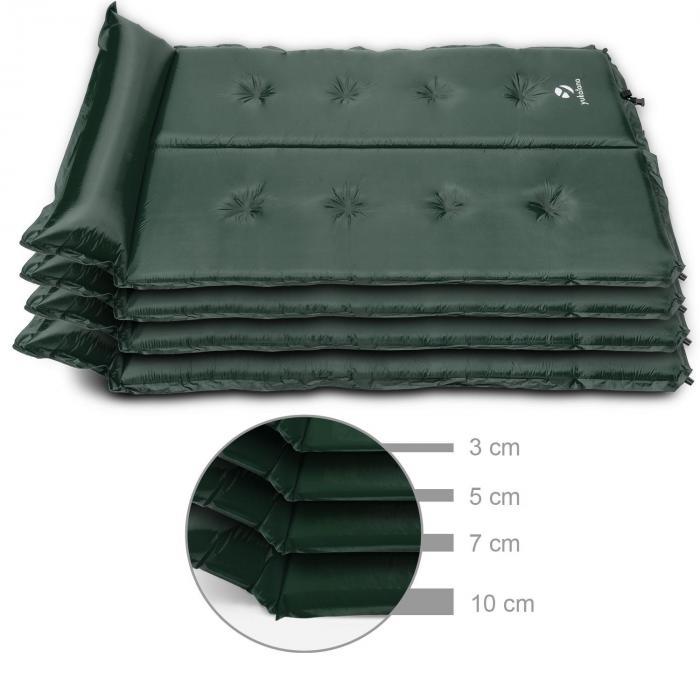 Goodbreak 10 Sleeping Mattress Double Airbed 10cm Thick Pillow Green