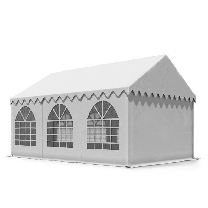 Sommerfest 3x6m 500 g/m² Tendone da Festa Gazebo PVC Bianco Ignifugo