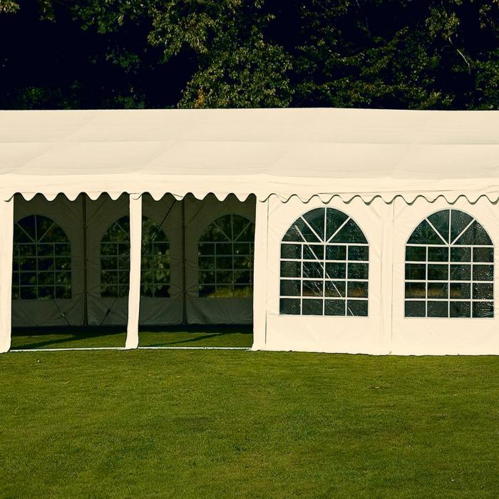Sommerfest 5x10m 500 g/m² Tendone da Festa Gazebo da Festa PVCImpermeabile Zincato