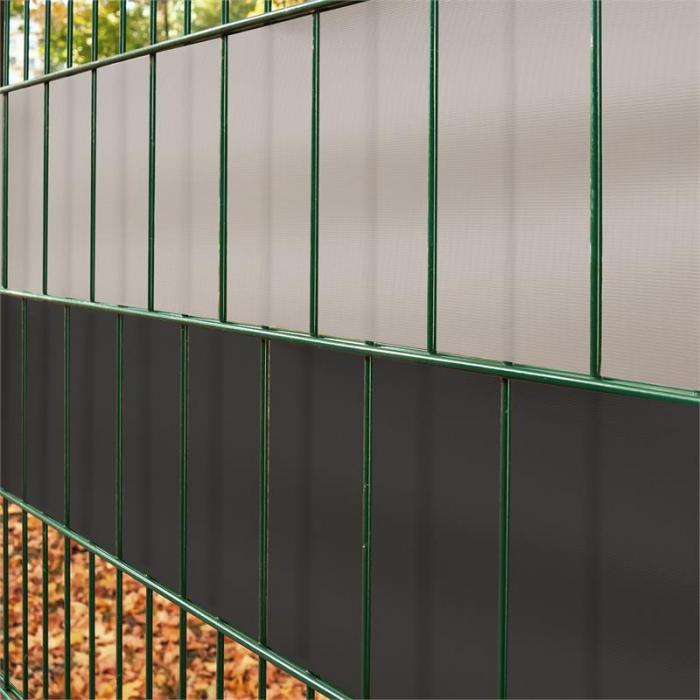 Pureview näkösuojarulla PVC 35m x 19cm 30 kiinnityslistaa vaaleanharmaa