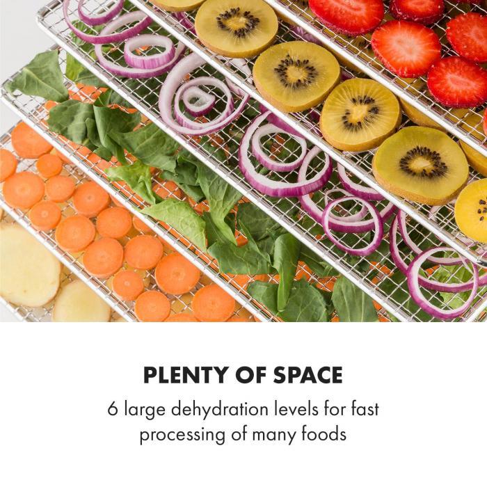 Fruit Jerky Pro 6 Essiccatore per Alimenti 630W 6 Piani Acciaio Inox