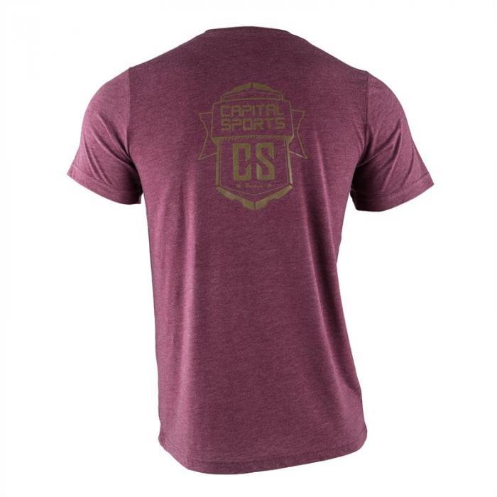 Treenipaita T-paita miehille koko S viininpunainen
