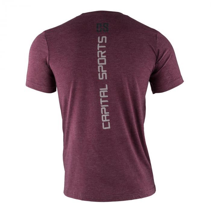 T-shirt allenamento da uomo Taglia L Rosso granata