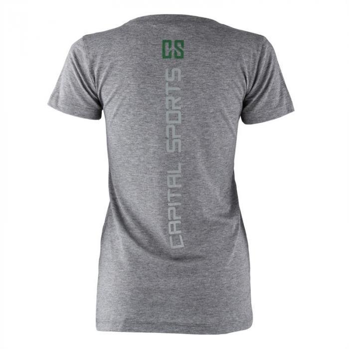 Treenipaita T-paita naisille koko S meleerattu harmaa