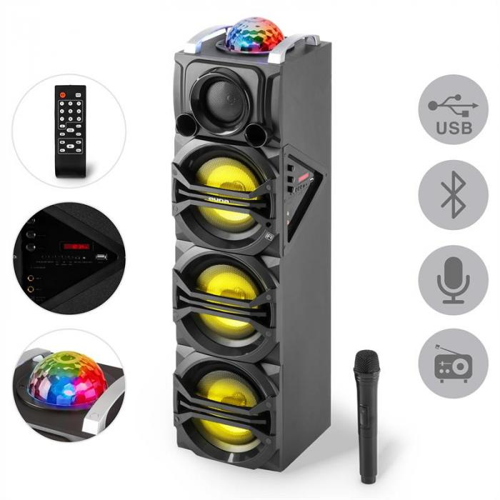elektronik star de disgo box 365 party lautsprecher akku bluetooth usb mp3 ukwled lichteffekt. Black Bedroom Furniture Sets. Home Design Ideas