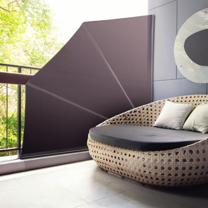 Julietta Seitenmarkise 140x140 cm PU-Beschichtet 160g/m² faltbar