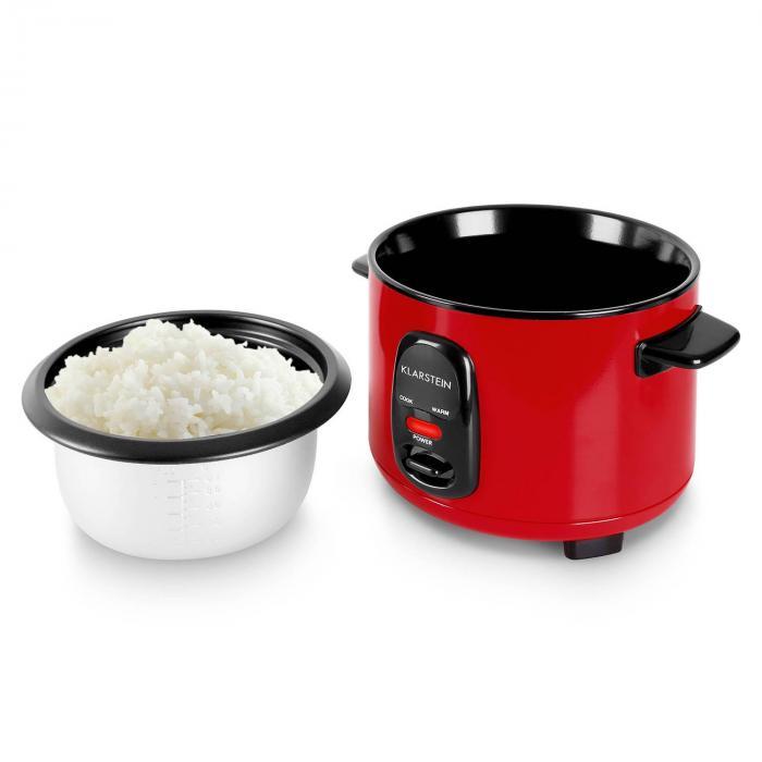OneConcept Osaka 1,5 riisikeitin punainen 500 W 1,5 l lämpimänäpitotoiminto