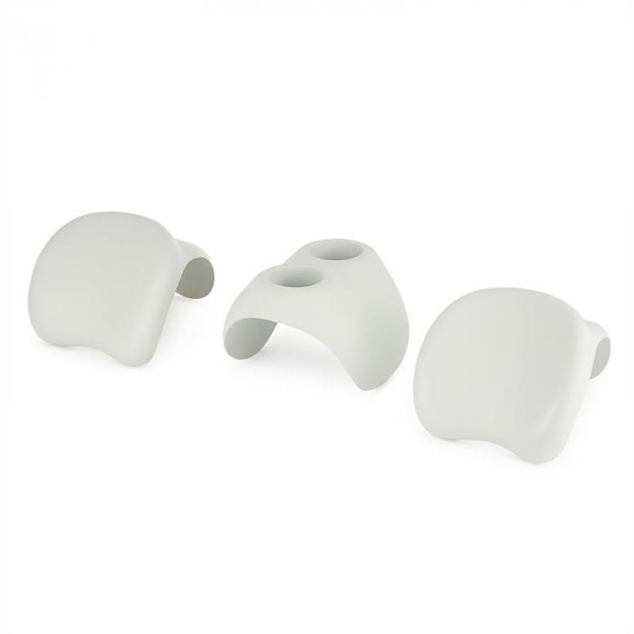 Face 2 Face kylpy-/porealtaan lisävaruste 2 x pääntuki juomapidike valkoinen