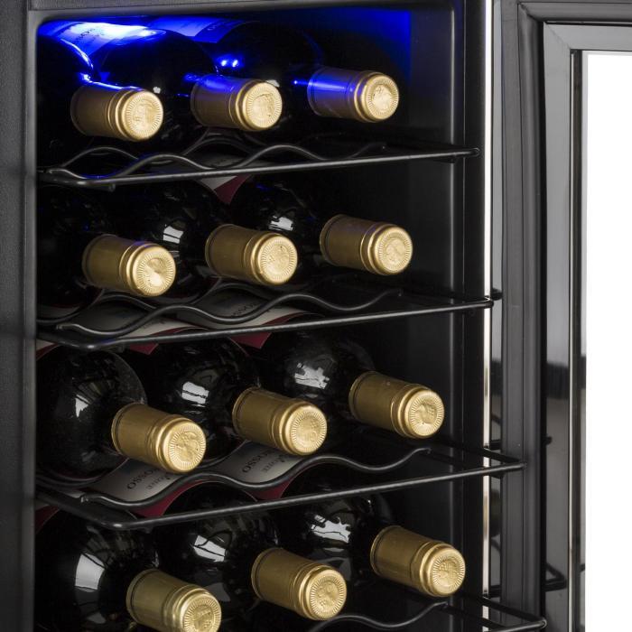 Reserva 21 viinikaappi 2 lämpötila-aluetta 56 l 21 pullolle luokka D musta