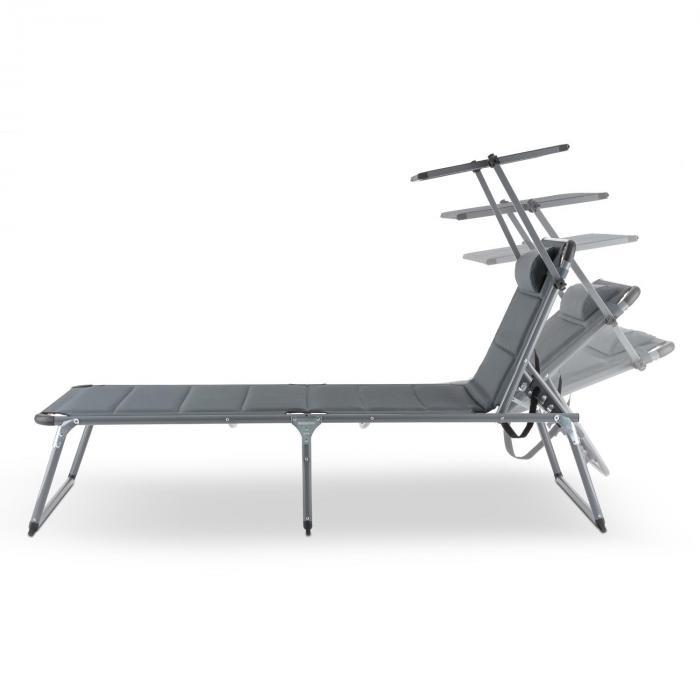 Amalfi Noble Grey Set 2 Sedie a Sdraio Imbottitura Tubi d'Acciaio grigio