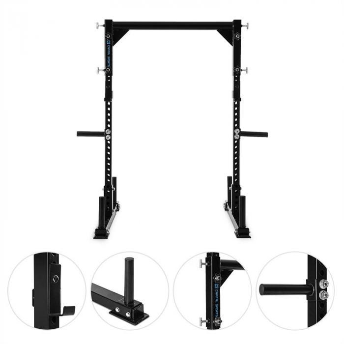 Yoketar Yoke Rack de Musculação p/Barra c/Pesos de 50mm 2x J-Cup Aço Preto
