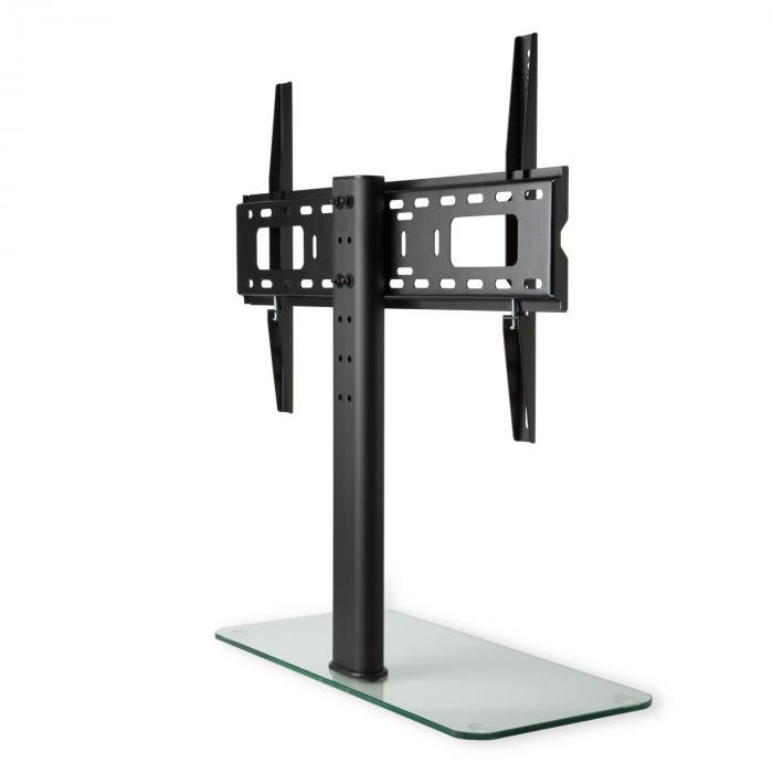 TV-teline koko L korkeus 75 cm korkeussäädettävä 23-55 tuumaa lasijalka