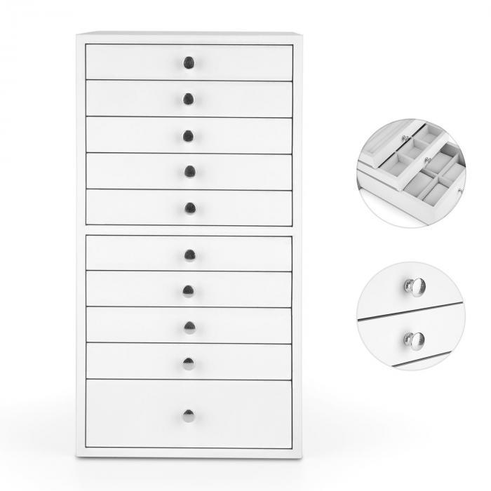 Pompadour Skrzynka na biżuterię 10 szuflad 21,5 x 40,5 x 29 cm