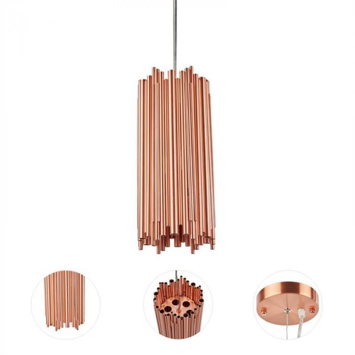 Kupferstrahl Studie 2 Lampadario a Pendolo Rame Design Industriale