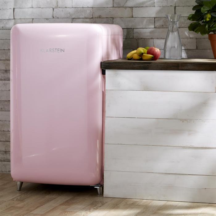 popart pink retro kylsk p a 108 l 13 l frysfack rosa rosa till bra priser. Black Bedroom Furniture Sets. Home Design Ideas