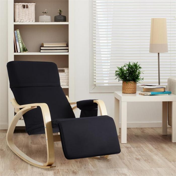 Beutlin nojatuoli kevyesti keinuva 68 x 90 x 97 cm (leveys x korkeus x syvyys) koivuvaneri musta