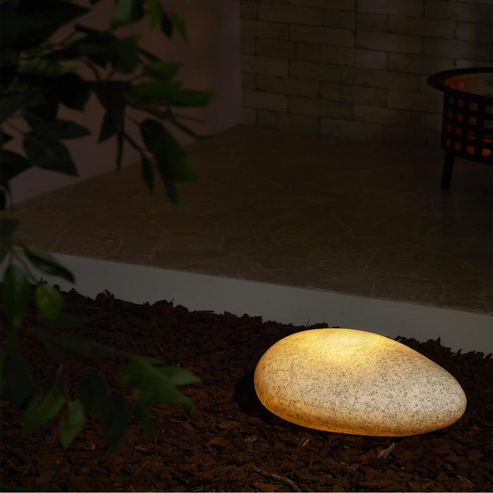 Shiny Nugget Lampada Pietra da Esterno Giardino granito