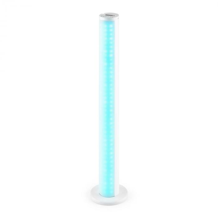 Light Up Tower Speaker 40 W Bluetooth LED USB UKW Fernbedienung weiß