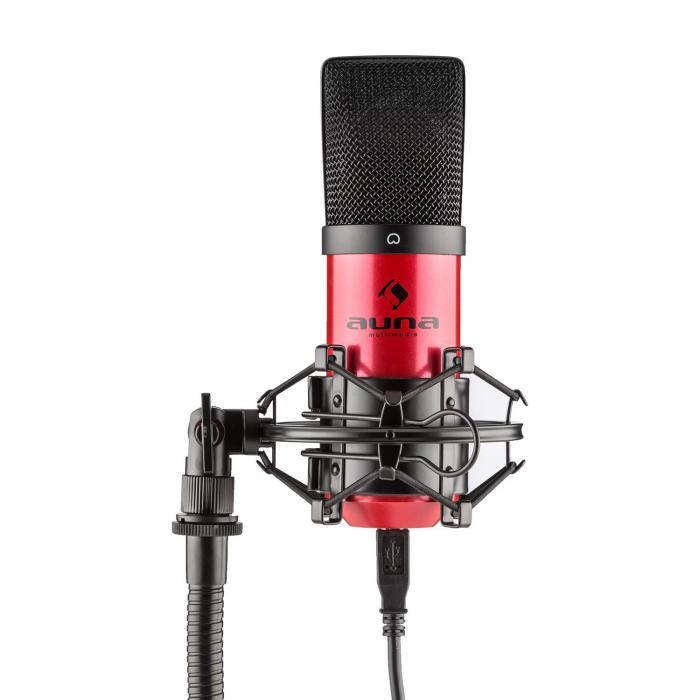 MIC-900RD USB set de micrófonos V3 micrófono de condensador+brazo de micrófono riñón rojo