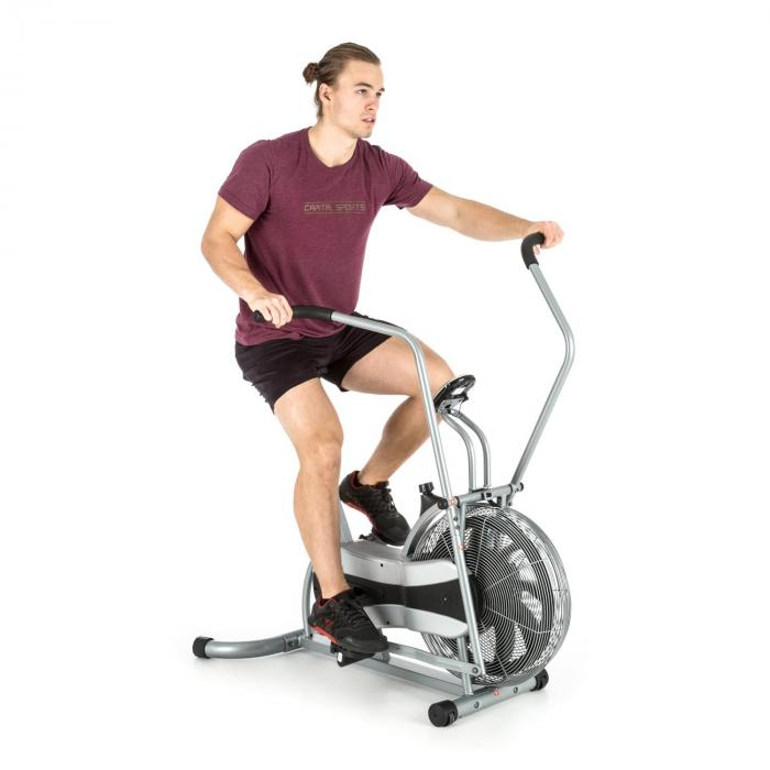 Stormstrike 2k crosstrainer kuntopyörä ergometri maksimikuormitus 120 kg hopea