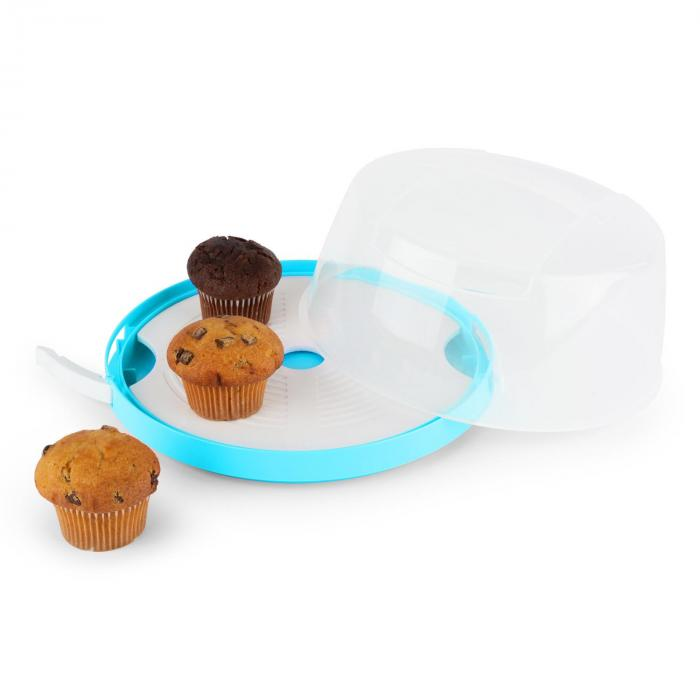 Blue Case Cake Bell Cake Box Ø26cm Blue
