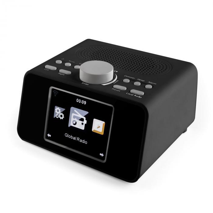 """i-snooze Internetradio Radioväckarklocka WLAN USB AUX 3,2"""" TFT-Färgdisplay"""
