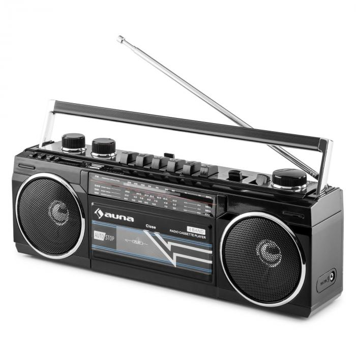Duke retro-boombox kannettava kasettisoitin USB SD bluetooth FM-radio