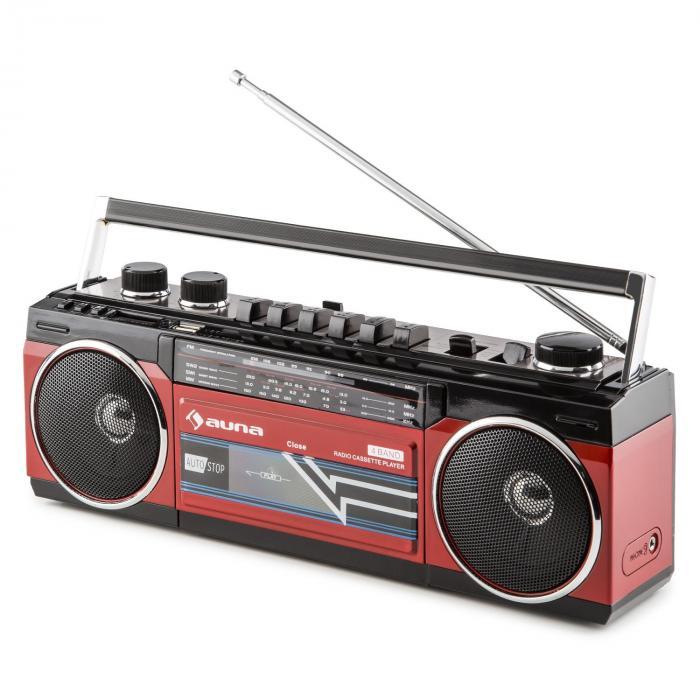 Duke boombox retro przenośny odtwarzacz kasetowy USB SD Bluetooth radio FM