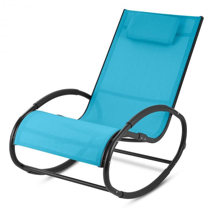 Retiro Schwingsessel Schaukelstuhl Aluminium Polyester blau