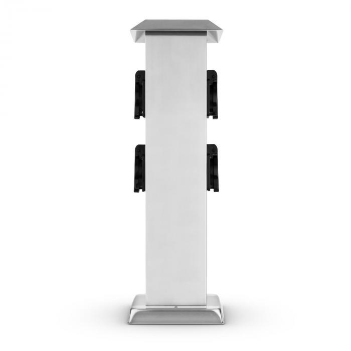 Plug 4 Play Square Presa Elettrica A Colonna Acciaio Inox