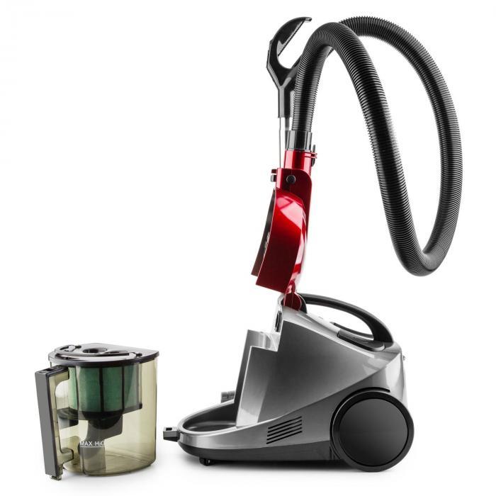 Aquapura Aspiratore ad Acqua Secco/Umido Filtro HEPA Rosso