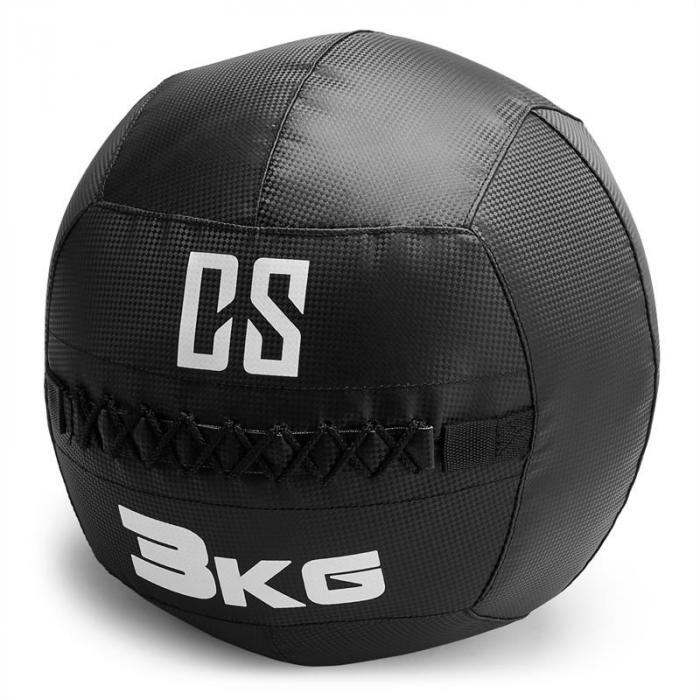 Bravor Wall Ball Palla Medica PVC 3kg Nera