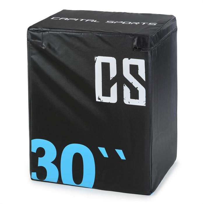 Rooksy Soft Jump Box Plyo Box 76x61x51 cm black