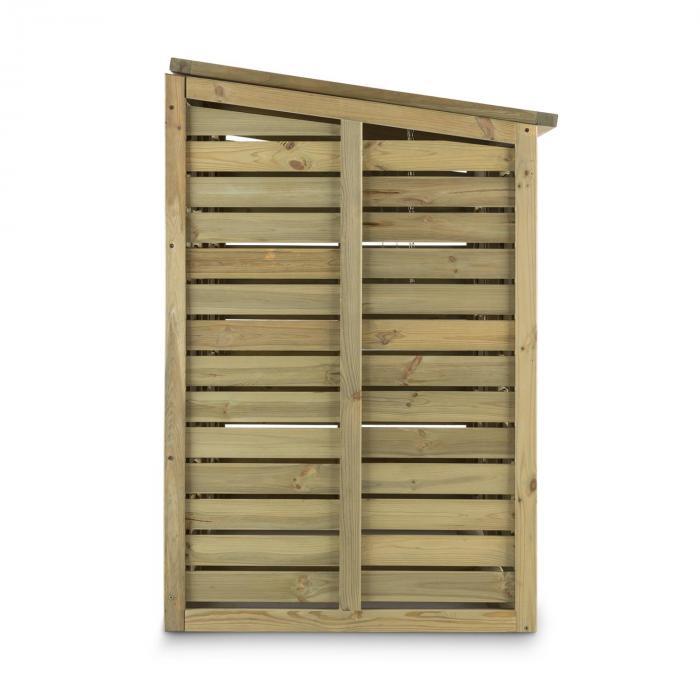Ordnungshüter 2T Garbage Bin Holder 145x130x87 cm (WxHxD) 2 Bins FSC certified Pine Wood