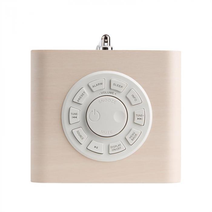 Mini One Design-Digitalradio Bluetooth DAB+ FM AUX lönn inkl batteri