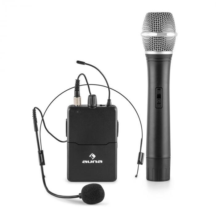 VHF-2-HS 2-Canali-VHF-Radiomicrofono Set 1xHeadset 1xMicrofono 50m