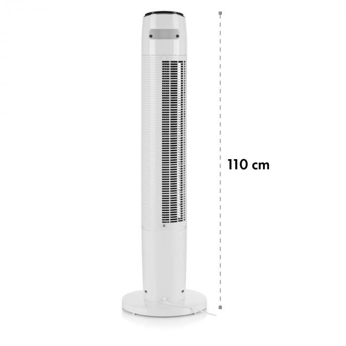 Empire State Ventilatore a Colonna Oscillazione 45° bianco