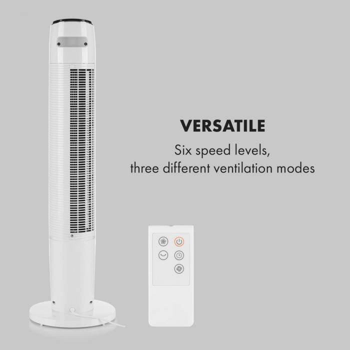 Empire State wentylator kolumnowy podłogowy45° oscylacja biały