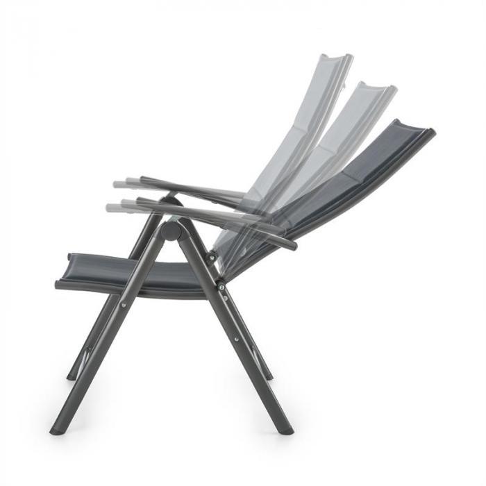 Stylo Noble Grey Sedia Da Giardino Richiudibile Alluminio Grigia