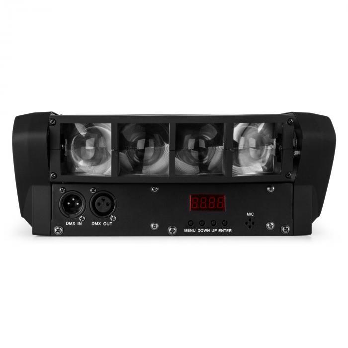 LED8-Mini Effetto Luce LED Mini-Spider DMX incl. Staffa di Montaggio