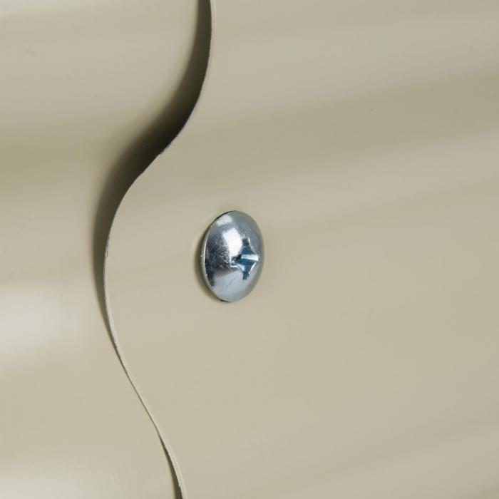 High Grow Fioriera Rialzata 2,0m Rivestimento zinco-alluminio beige