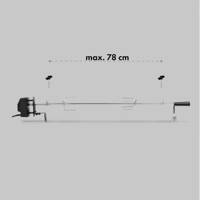 Van Helsing sähköinen grillivarras grillin lisävaruste 5 kg ruostumatonta terästä