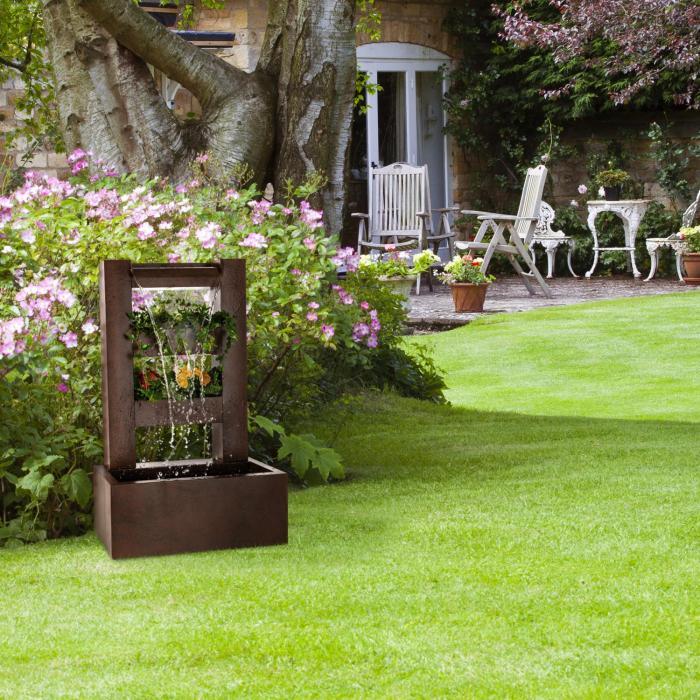 lemuria gartenbrunnen pflanzschale wasserspiel pumpe 30w 10m kabel online kaufen elektronik. Black Bedroom Furniture Sets. Home Design Ideas